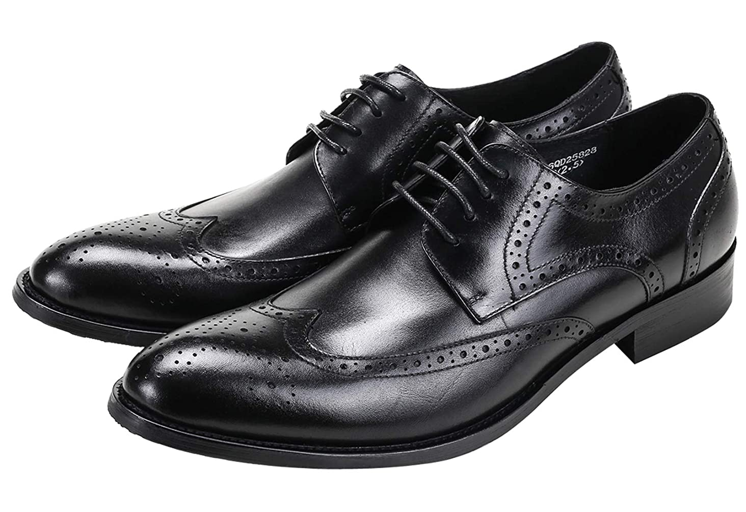 Mens Dress Shoes Wingtip Brogue Oxford for Men Classic Formal Leather Lace Up Derby Shoes