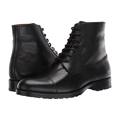Massimo Matteo 7-Eye Cap Boot (Black) Men