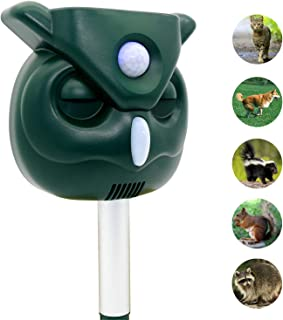 ZOVENCHI Pest Repeller, Solar Powered Ultrasonic Animal Repeller with Ultrasonic Sound, Motion Sensor and Flashing Light Waterproof Outdoor pest Repeller for Cats, Dogs, Squirrels, Moles, Rats