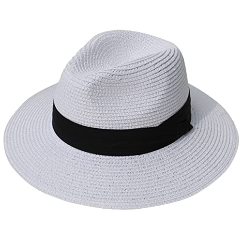 ea7919ee8 White Straw Hat: Amazon.com