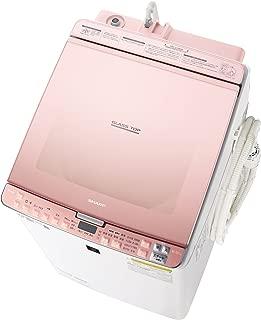 シャープ SHARP タテ型洗濯乾燥機 ガラストップ ダイヤカット穴なし槽 ピンク系 ES-PX8C-P
