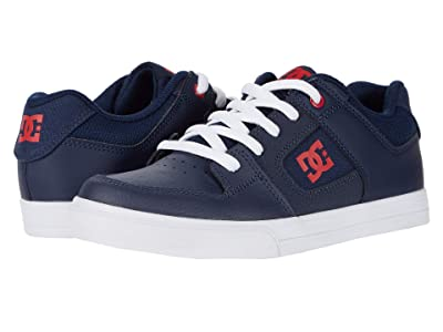 DC Kids Pure (Little Kid/Big Kid) (Navy/White) Boys Shoes