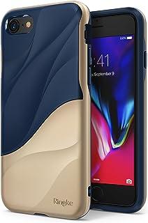 【Ringke】iPhone 8 ケース / 7 ケース 対応 二重構造 落下防止 ストラップホール スマホケース [米軍MIL規格取得] 衝撃吸収 PC TPU [Qi 充電 対応] WAVE (Marina Gold)