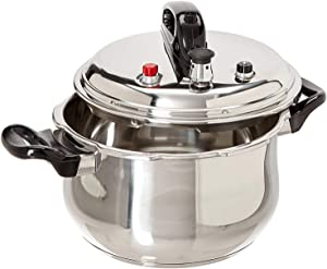 Uniware Super Quality Stainless Stell Pressure Cooker, Six Over-pressure Safety Systems, Silver (7 Quart (DIA 24Cm))