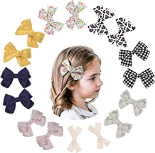 Makone 16 Pack Baby Hair Clips Hair Bows Clip Toddler Bows Baby Girl Bows for Girls Clips Accessories for Little Girls Inf...