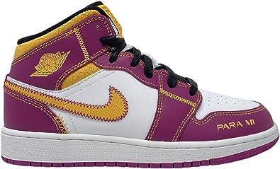 Amazon.com | Nike Jordan 1 Mid Dia De Los Muertos Grade School GS ...