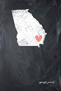 Georgia Journal: State of Georgia Sweet Heart Blank Diary 120 Paged College Lined 6x9 Travel Journal