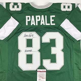 Autographed/Signed Vince Papale Inscribed Invincible Philadelphia Green Football Jersey JSA COA