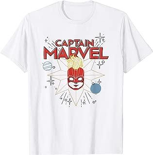 Captain Marvel Carol Danvers Cosmic Sketch T-Shirt