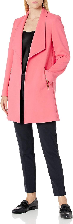 Tahari ASL Women's Open Front Zipper Pocket Topper