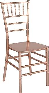 Flash Furniture HERCULES Series Rose Gold Resin Stacking Chiavari Chair