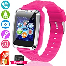 Kids Smartwatch [SIM Card and Extra Battery Included], Smart Watch Phone for Children with Touch Screen SOS Camera Games Flashlight Electronic Learning Toy for 3-14 Years Old Boys Girls Toys Gifts