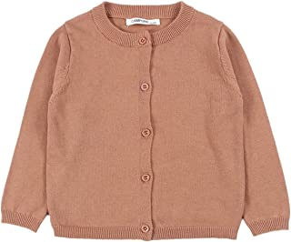 8c2625057f1495 JELEUON Little Girls Cute Crew Neck Button-Down Solid Fine Knit Cardigan  Sweaters
