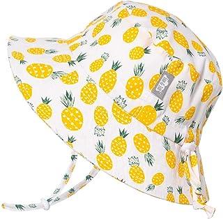 JAN & JUL Kids Cotton Bucket Sun-Hat, 50+UPF Protection, Adjustable Strap, Baby Toddler Girls