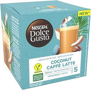 Nescafé Dolce Gusto Café au Lait de Coco - Café - 72 Capsules (Pack de 6 boîtes x 12)