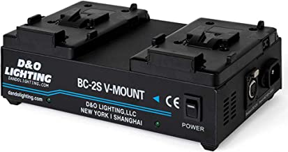 Dual Channel V-Mount / V Lock Battery Charger with 16.8V Power Supply Output