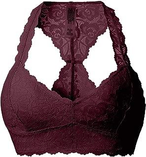 Women's Sexy Lace Racerback Bralette Bustier Breathable Crop Top Bra