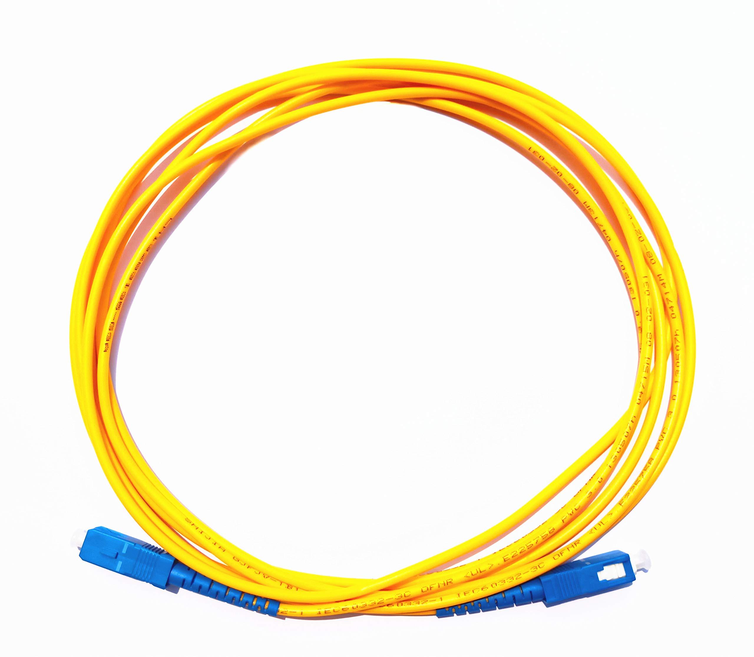 Lianshi SC-SC SingleMode Cable de Fibra /óptica de Parche Cables de Fibra SC a SC SC Conector /óptico