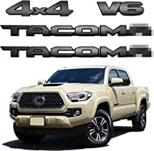 Blackout Emblems Overlay for 2016-2021 TAC PT948-35180-02 OEM ABS Plastic Tailgate Insert Letters Overlays Compatible with Tacoma 3D Raised Strong Adhesive Decals Letters((Matte Black)