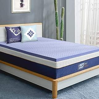 BedStory Memory Foam Mattress Topper Full, 3 Inch Lavender Infused Foam Mattress with Microfiber Fitted Cover, Memory Foam Mattress Pad Bed Topper with CertiPUR-US, Ventilated Design