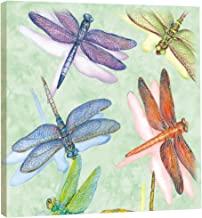 Tree-Free Greetings EcoArt Home Decor Wall Plaque, 11.25 x 11.25 Inches, Dragonflies Themed Wendy Russell Art (85500)