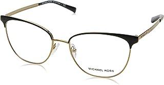 1e7b0e86d1252 Michael Kors NAO MK3018 Eyeglass Frames 1195-54 - Matte Black pale Gold-