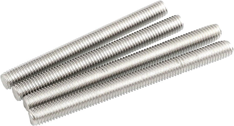 qfkj Bolts 5pc M6 M8 Threaded Rod Full-Thread Bar 304 Stainless Steel Fasteners Silver L=25-90mm 30mm 40mm 50mm 60mm 70mm 80mm 90mm Durable Length : 30mm, Thread Diameter : M6