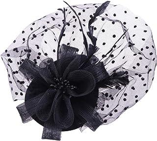 TOYMYTOY トーク帽 黒 礼装帽子 トークハット レディース ベール付き 羽柄 撮影 パーティー 結婚式