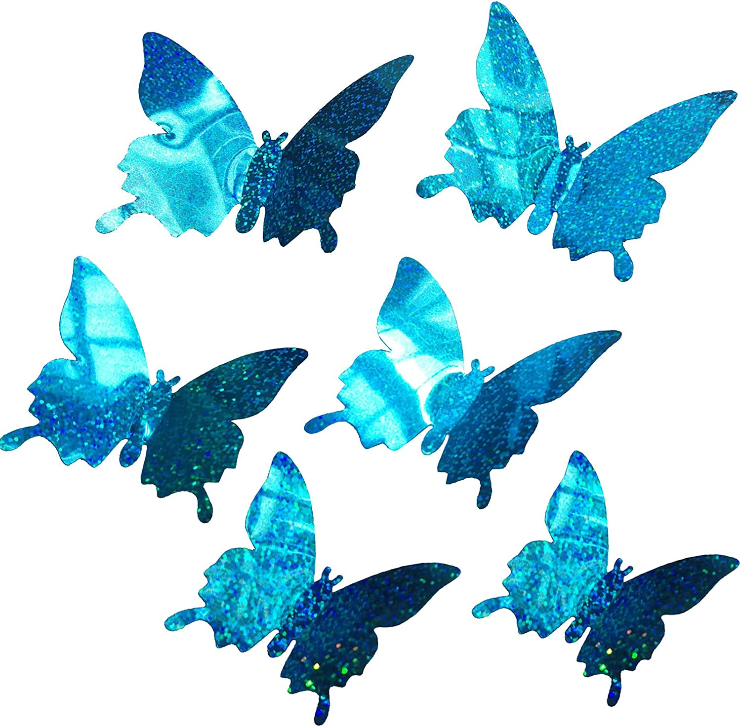 Mudboo Butterfly Wall Albuquerque Mall Topics on TV Decor Sticker Decal Size 3 PCS 24 3D