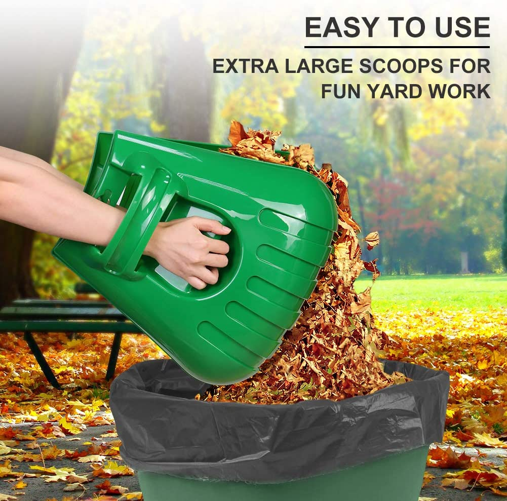 Hosetool Large Leaf Scoops and Hand Rake Claw Ergonomic Hand Held Garden Rake Grabbers/for Picking up Leaves,Grass Clippings and Lawn Debris