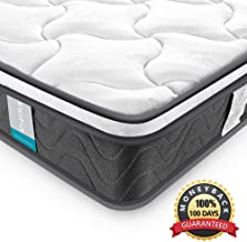 Full Mattress, Inofia 8 Inch Hybrid Innerspring Full Size Bed Mattress with Dual-Layered Breathable Cool Cover, CertiPUR-US Certified