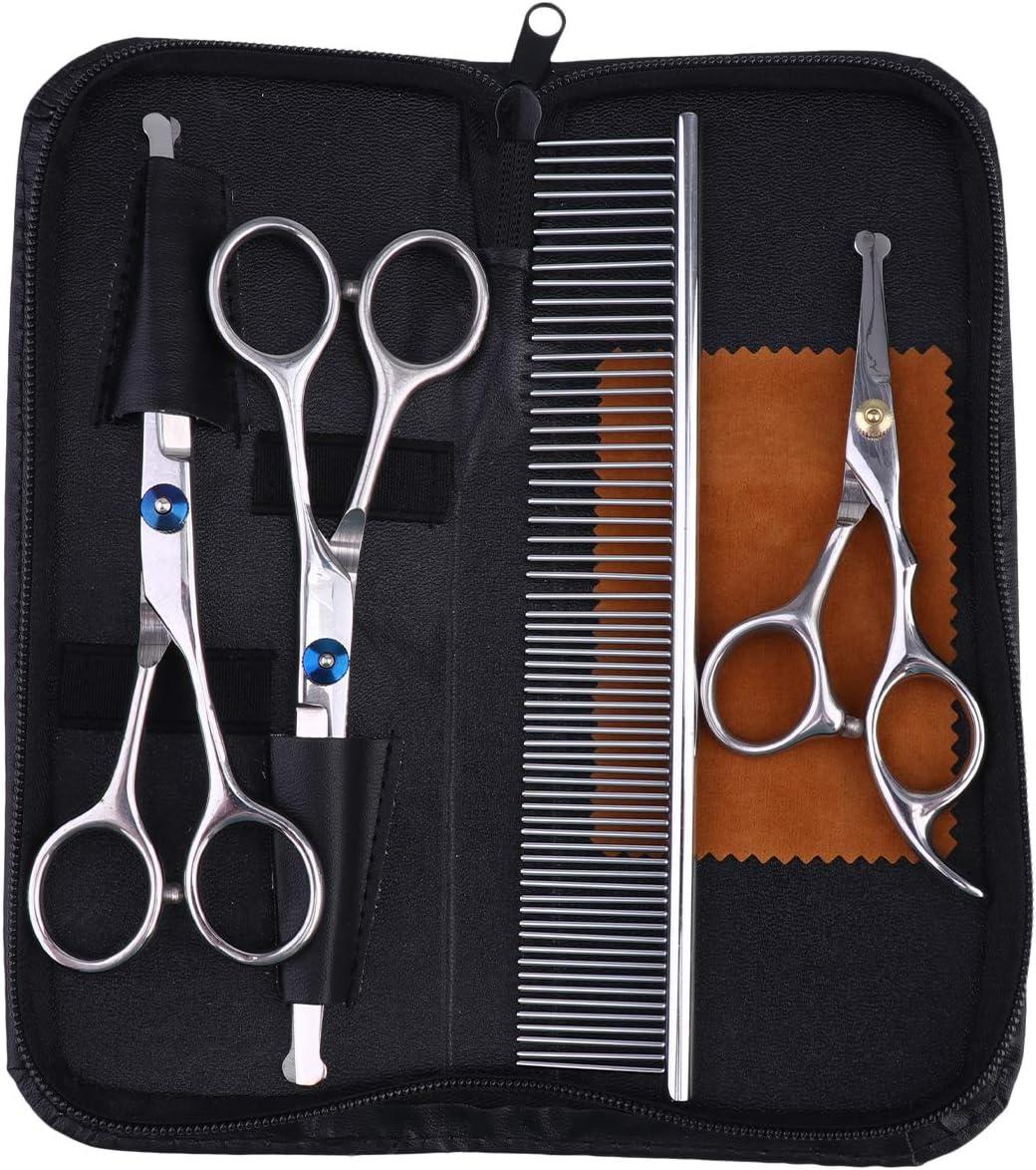 TEHAUX Dog Grooming Tool- Pet Kits Hair Scissors Genuine unisex Stainl