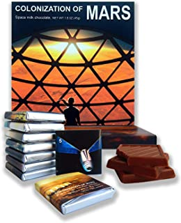 DA CHOCOLATE Gift box COLONIZATION OF MARS a nice space themed chocolate set 5x5 In 2.82 Oz (0313) (Arrival Prime 2)