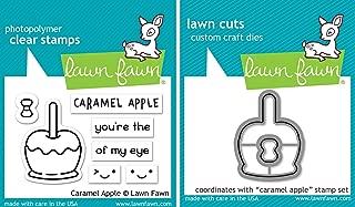 Lawn Fawn Caramel Apple Clear Stamp & Die Set - 2 Item Bundle