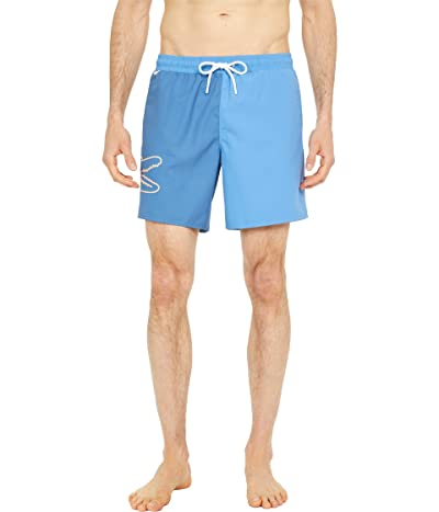 Lacoste Swim Trunks with Large Croc on Side Men
