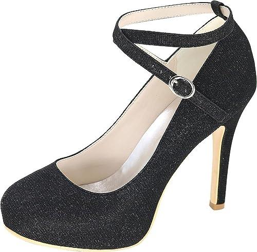 Find Nice , Sandales Plateforme Femme - Noir - Noir, 36.5