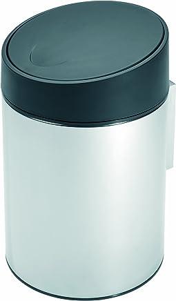 Brabantia侧滑式卫生桶5升,黑色塑料桶盖