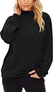 Sponsored Ad - Fengbay Women's High Neck Drop Shoulder Long Sleeve Pullovevr Oversized Sweatshirt