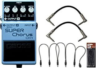 BOSS CH-1 Stereo Super Chorus Pedal w/ Daisy Chain Power Cable and (2) 6