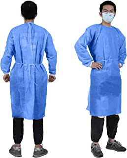 vividesire 10 PCS Disposable Protection Gown Protective Isolation Clothing Lightweight Unisex Men Women for Home Outdoor Cycling Anti-Fog Anti-Particle