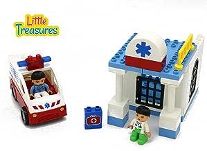 Little Treasures City Hospital Building Block, 30 Pieces Compatible Toy Set