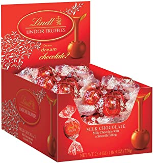 Lindt Lindor Truffles Milk Chocolate, 60-Count Boxes