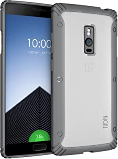 OnePlus 2 Case - TUDIA Scratch Resistant LUCION Lightweight Hybrid Matte Back Panel Protective Cover for The OnePlus Two (Gray)