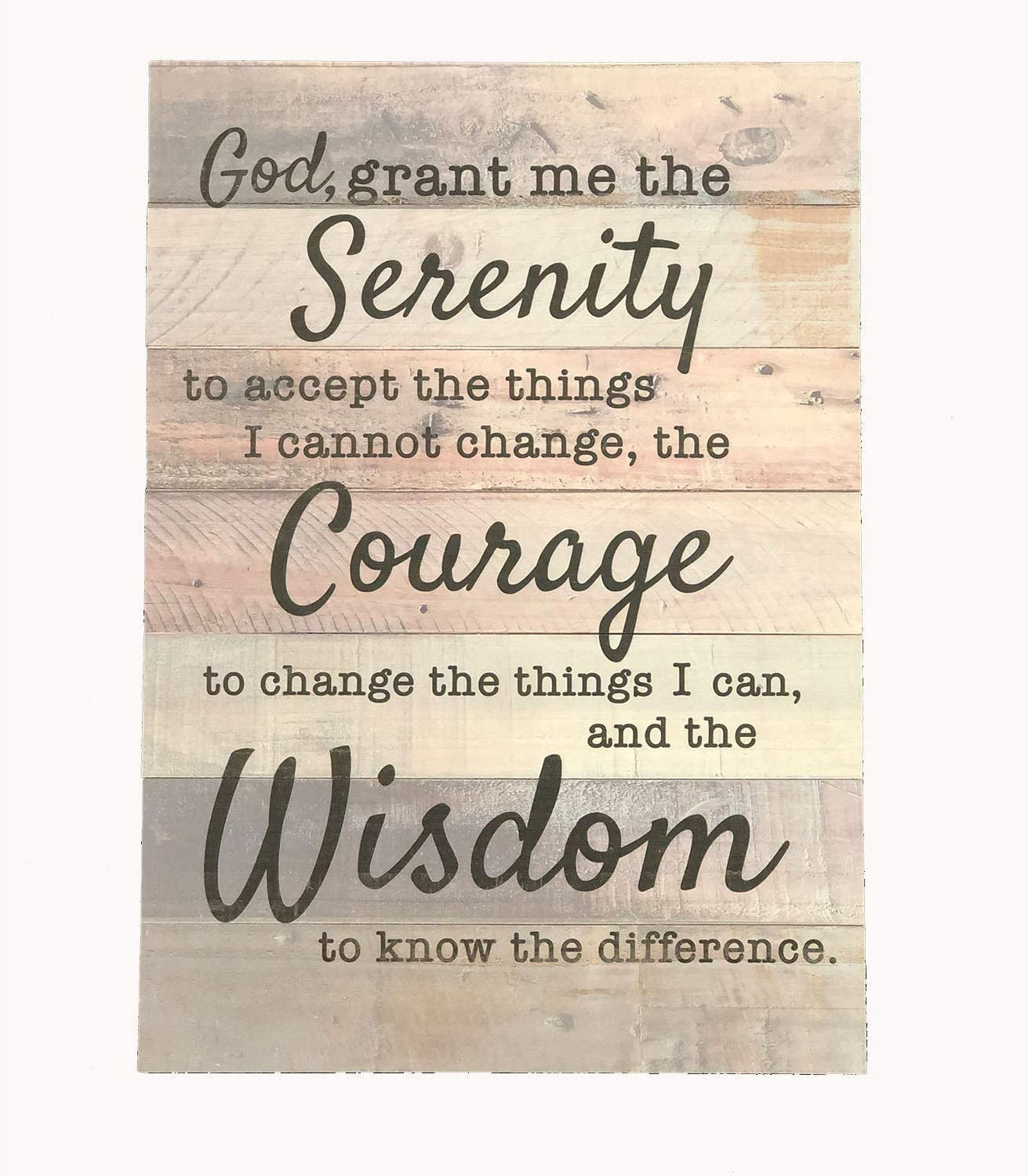 Special sale item Ollie West Special sale item Real Wood Serenity Prayer Sign 12