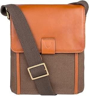 Aiden Genuine Leather and Canvas Mini Crossbody Men/Women Messenger Bag / Travel Bag / 10.5
