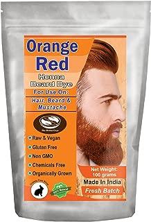 1 Pack of Orange Red Henna Beard Dye for Men - 100% Natural & Chemical Free Dye for Hair, Beard & Mustache - The Henna Guys