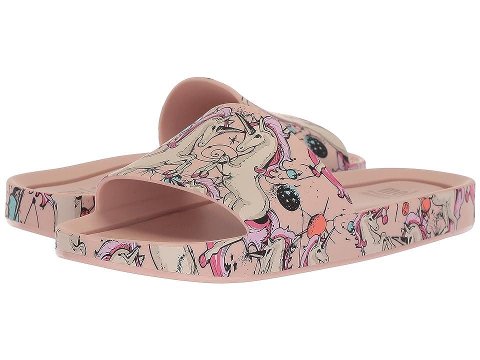 Mini Melissa Mel Beach Slide 3DB (Little Kid/Big Kid) (Pink/Beige) Girl