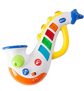 Fat Brain Toys Rockin' Light Up Saxophone Baby Toys & Gifts for Ages 1 to 3