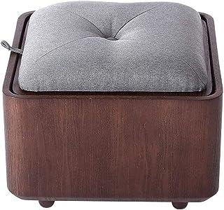 مقعد صغير تخزين طاولة صغيرة لغرفة المعيشة غرفة نوم كتان قماش طاولة مطبخ حديقة حمام أطفال والكبار 40 × 40 × 33 سم سوكيو