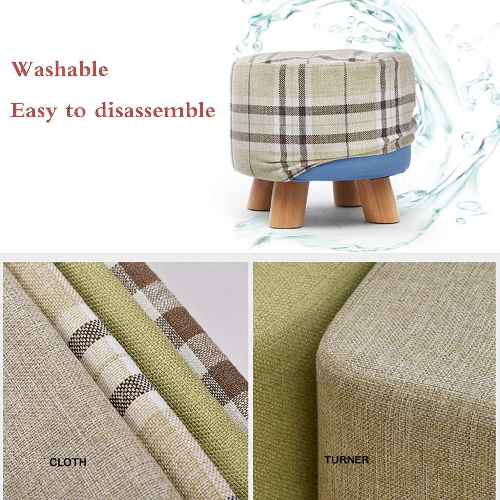 Petit tabouret chaise en bois coussin en éponge salon créatif petit banc tissu tabouret bas canapé chaussure banc (Color : I) C